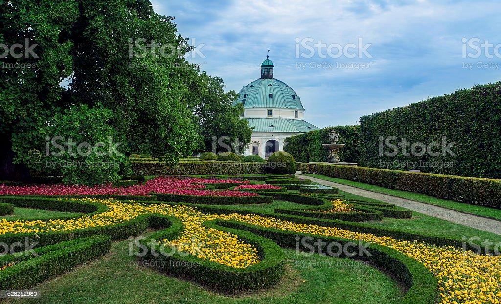 Moravia And Unesco Wonder Historical Floral Garden In Kromeriz