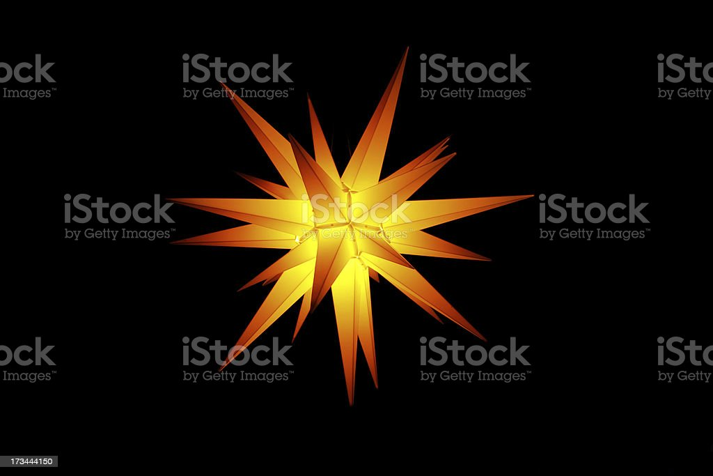 Moravian star stock photo