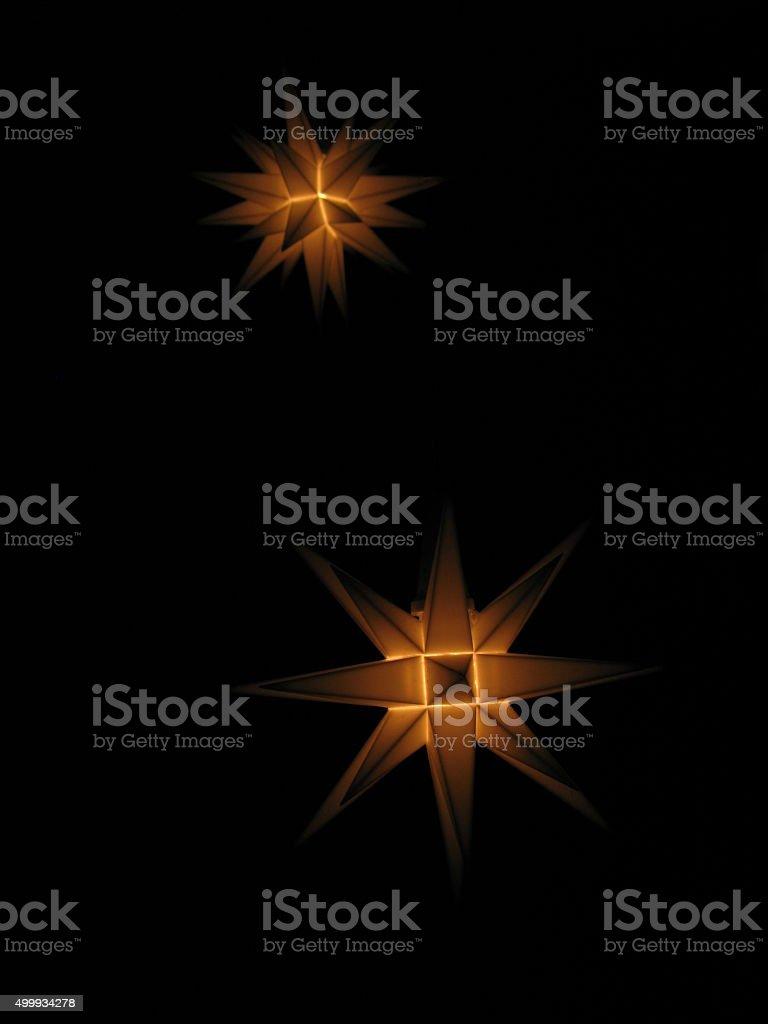 Moravian stars stock photo
