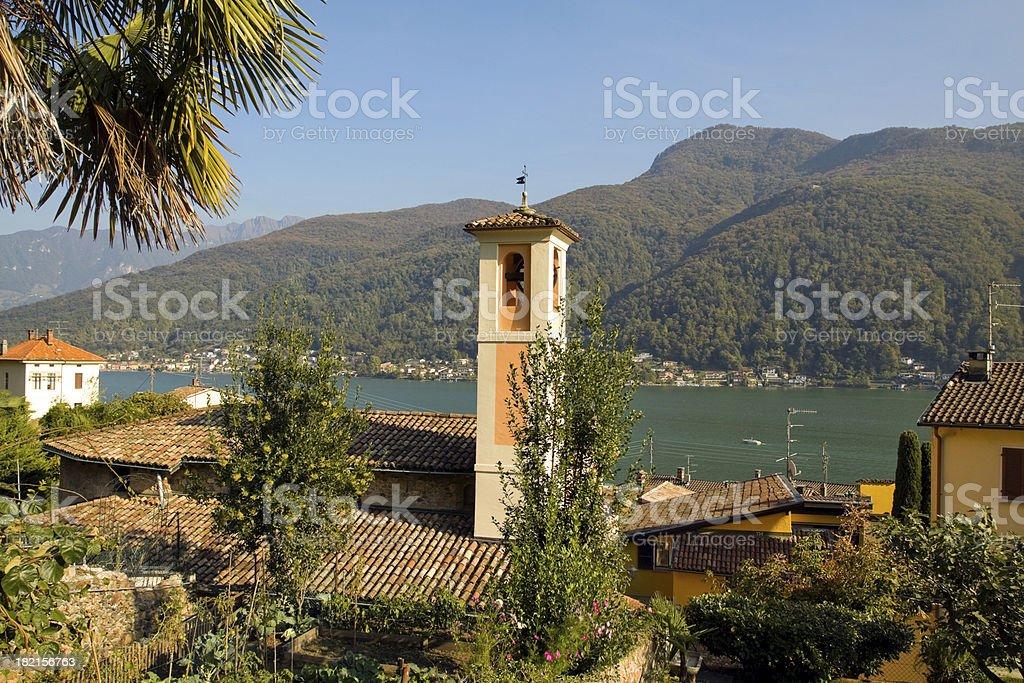 Morcote at Lake Lugano royalty-free stock photo