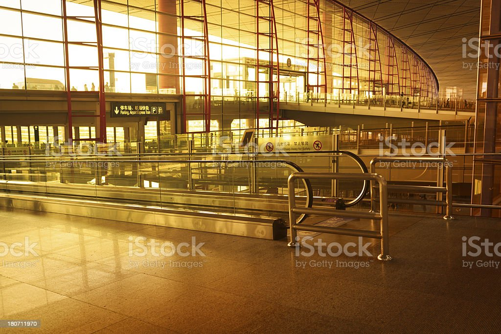 Morden airport of Beijing T3 royalty-free stock photo