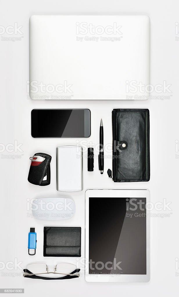 Mordern business essentials stock photo