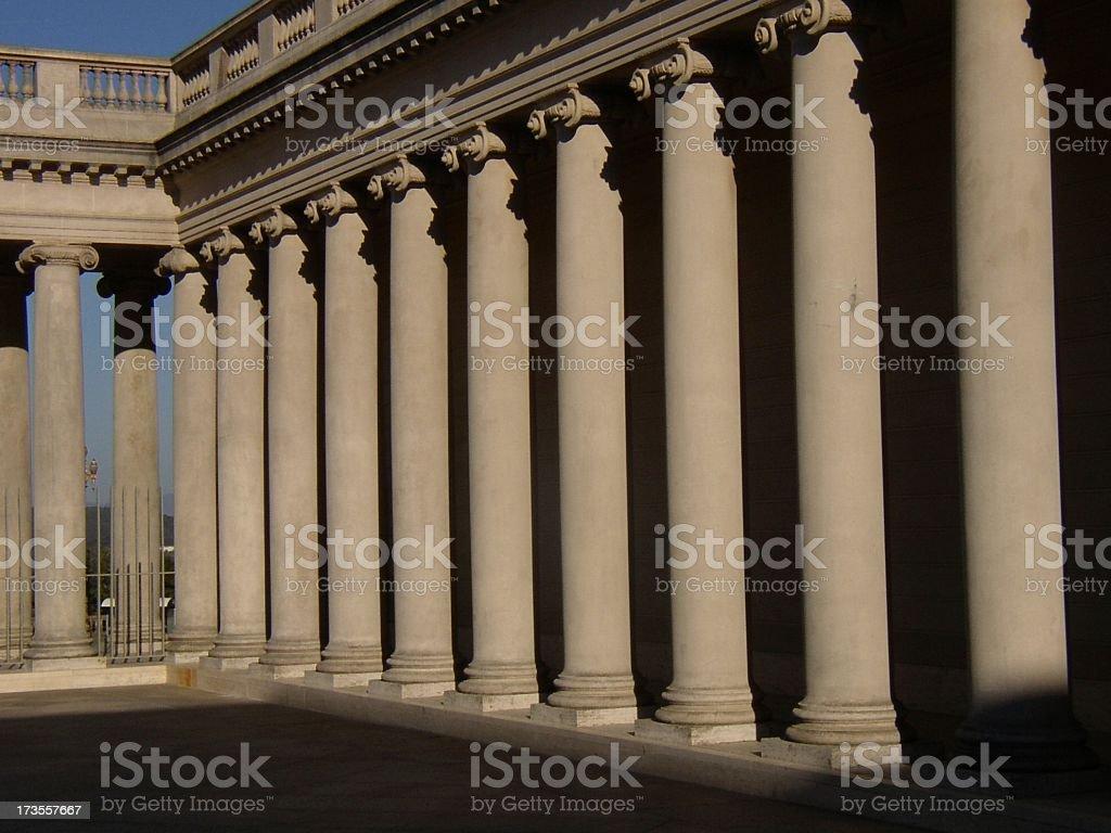 More Columns at the Palace royalty-free stock photo