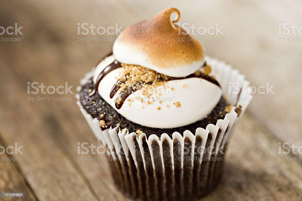 S'more Cupcake stock photo