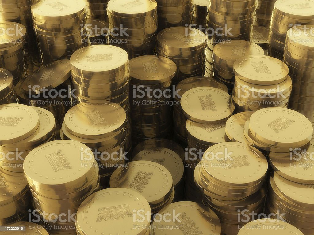 More Gold Coins stock photo