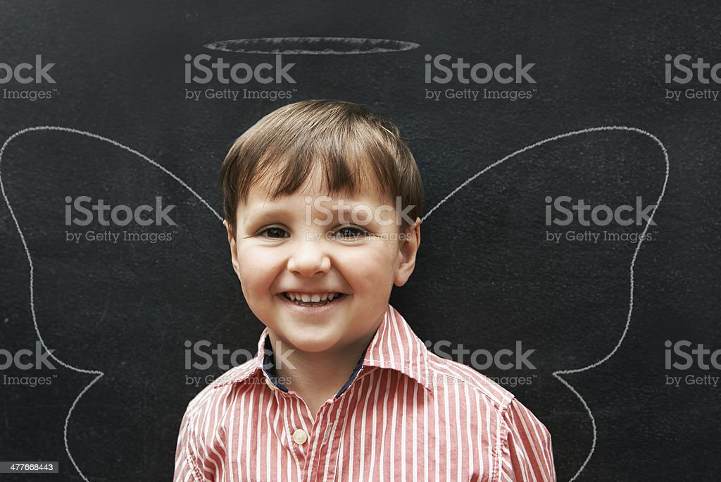 More innocent than an angel royalty-free stock photo
