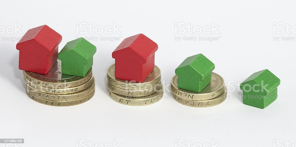 More money equals bigger house royalty-free stock photo