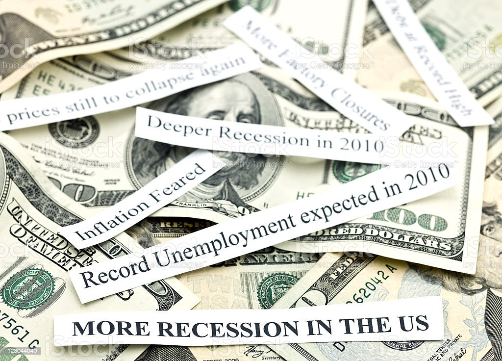 More Recession for 2010 titles royalty-free stock photo