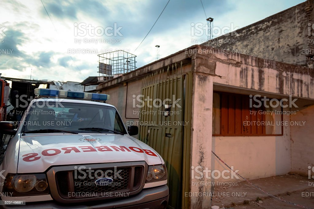 More than 60 injured in strong explosion C?rdoba - Argentina stock photo