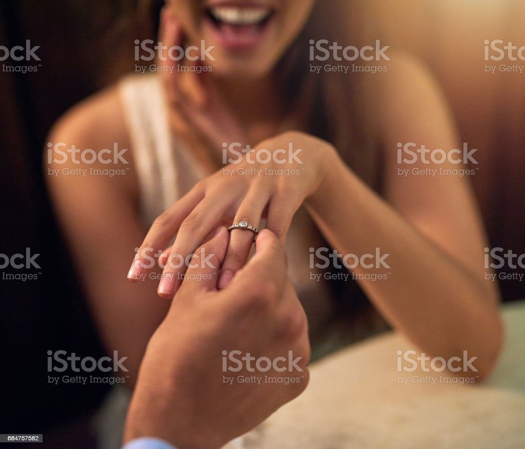 More than a proposal, it's a life long promise stock photo