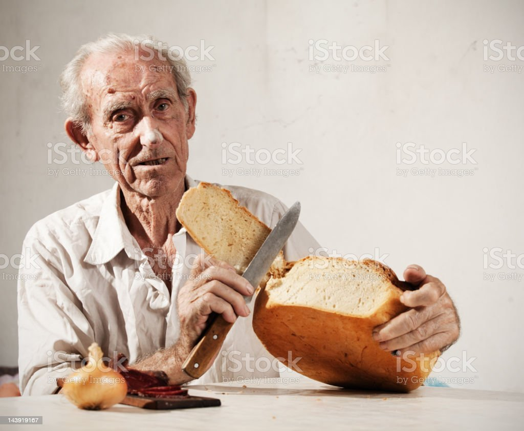 More then 100 years old man stock photo
