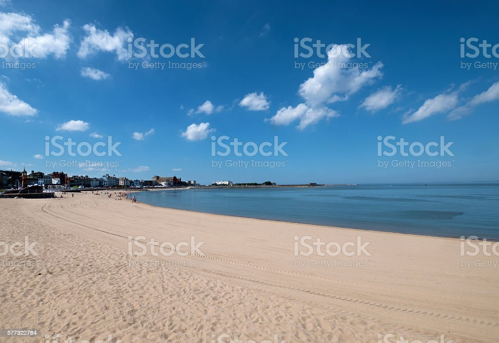 Morecambe Sands and Seafront stock photo