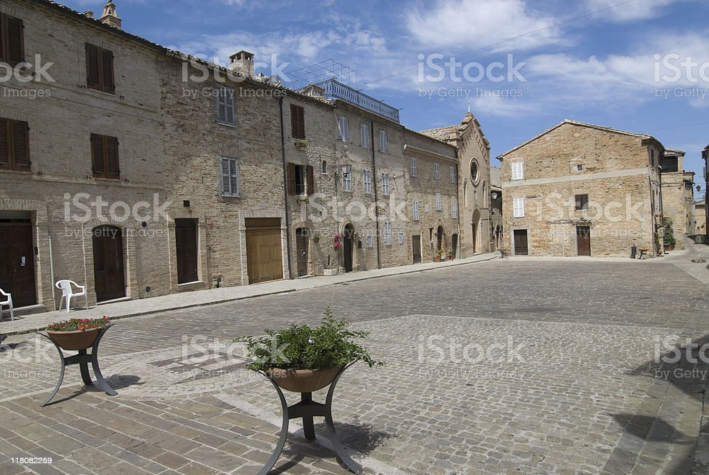 Moresco, medieval village (Ascoli Piceno, Marches, italy) royalty-free stock photo