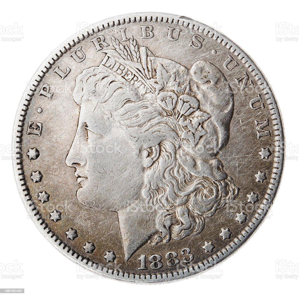 Morgan Dollar - Heads Frontal stock photo