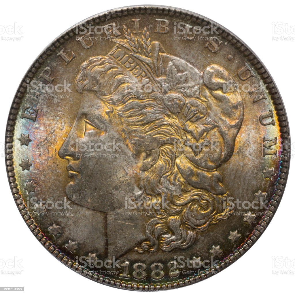 1882 Morgan Dollar Obverse stock photo