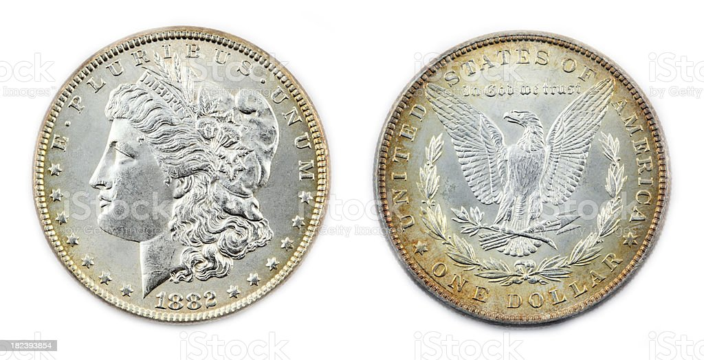 Morgan Silver Dollar royalty-free stock photo