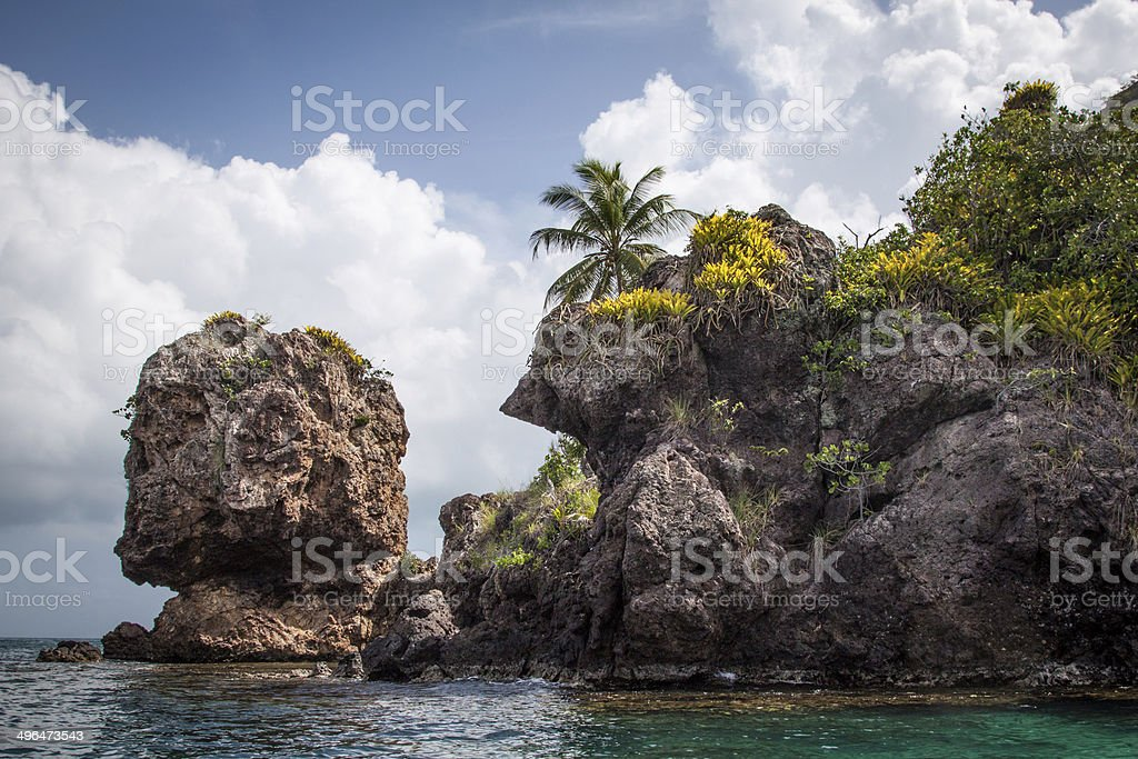 Morgan's head Santa Catalina island, Colombia stock photo