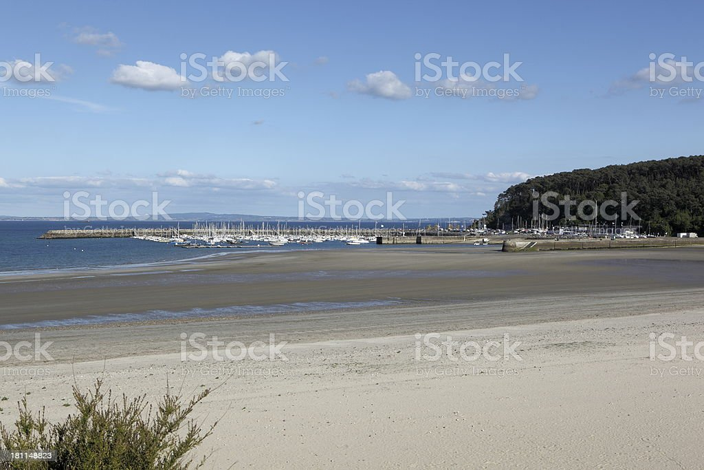 Morgat beach in Brittany, France royalty-free stock photo