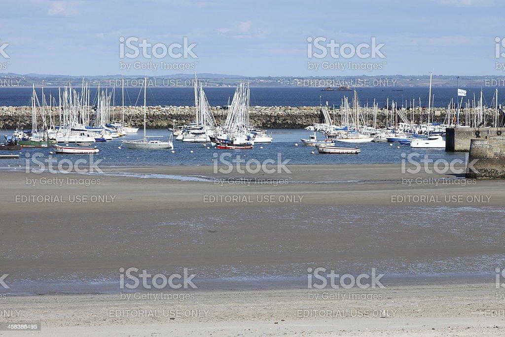 Morgat harbor in brittany, France stock photo
