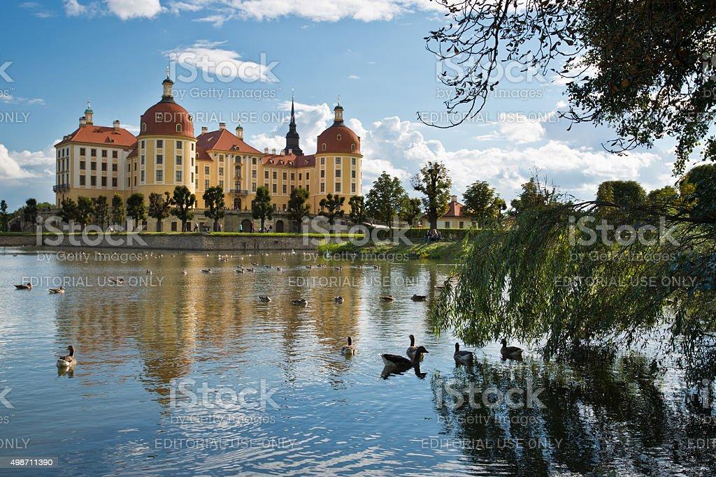 Moritzburg Castle in Saxony, Germany stock photo