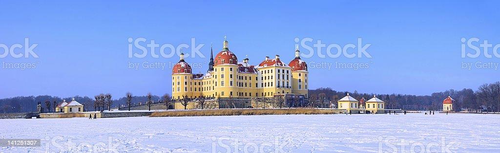 Moritzburg Castle in winter stock photo