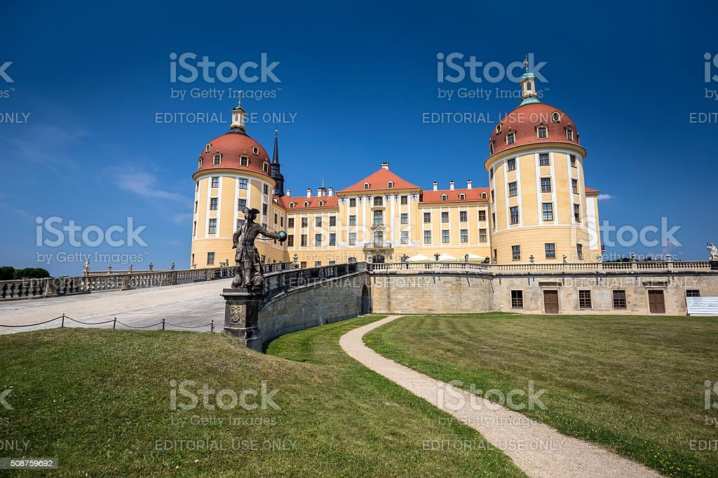 Moritzburg Castle near Dresden, Germany stock photo