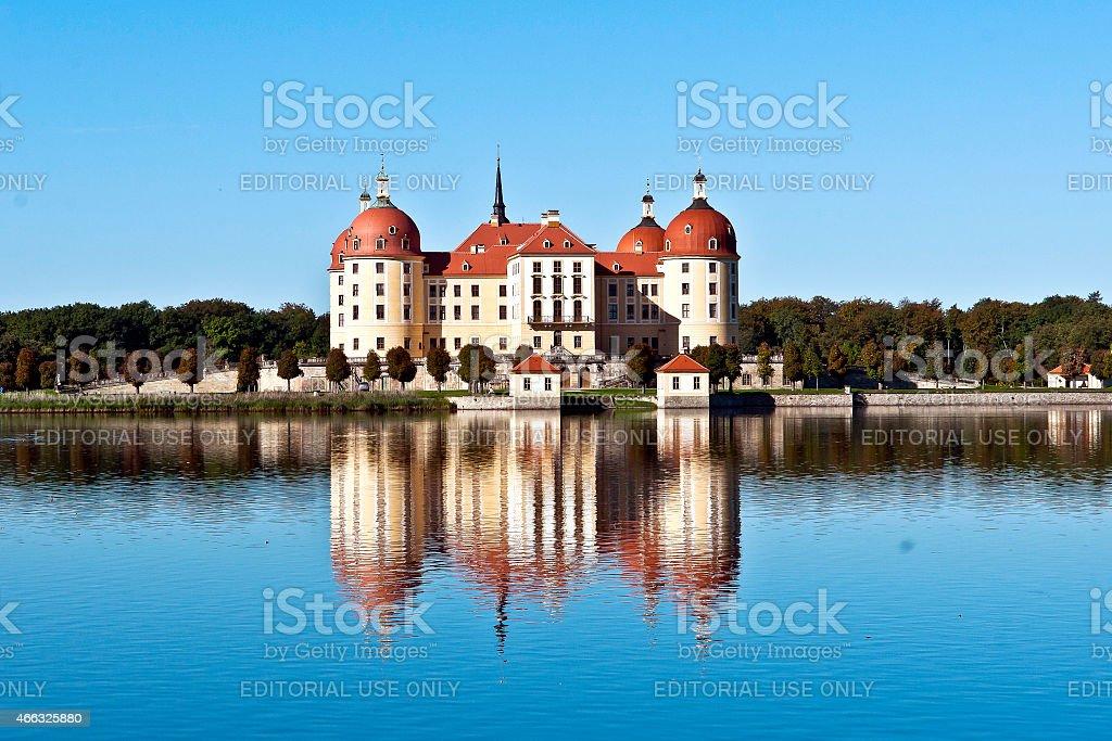 Moritzburg Castle near Dresden in Germany stock photo