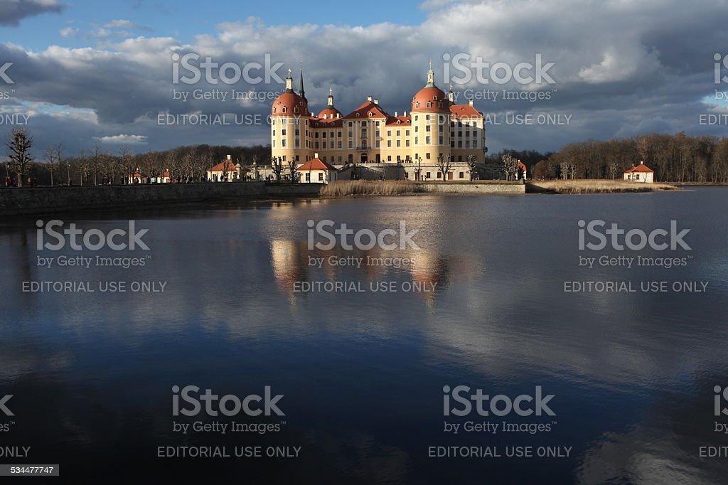 Moritzburg Castle near Dresden, Saxony, Germany. stock photo