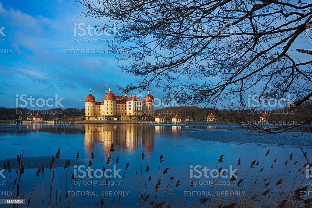 Moritzburg castle stock photo