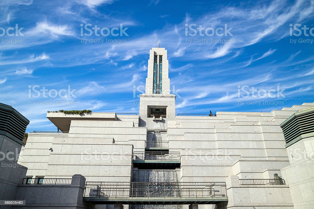 Mormon Church of Jesus Christ of Latter-day Saints conference ce stock photo