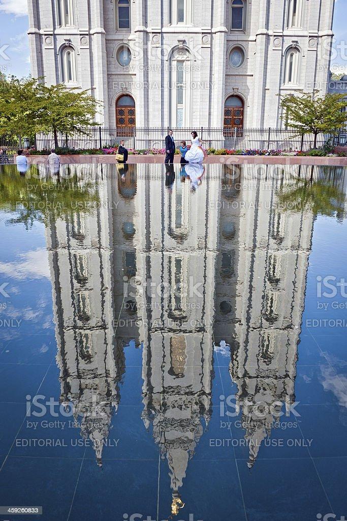 Mormon Church of Jesus Christ Salt Lake City Utah USA stock photo