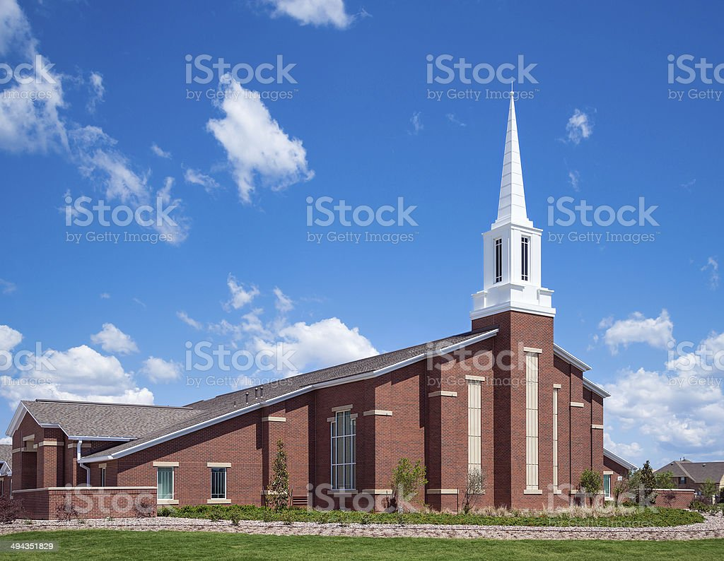 Mormon church stock photo