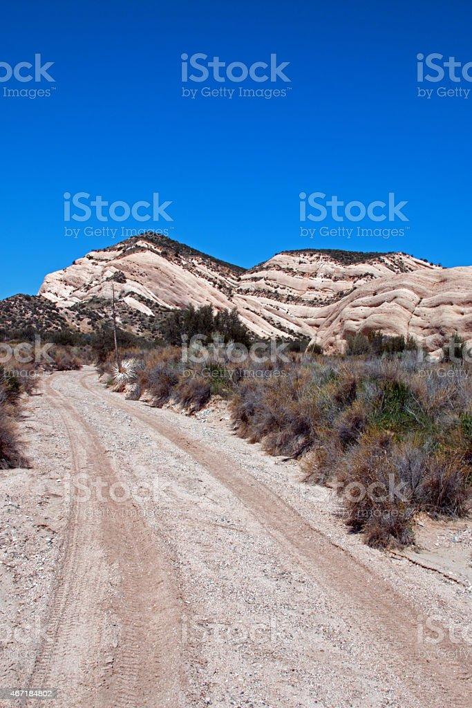 Mormon Rocks - High Desert Mountains of Southern California stock photo