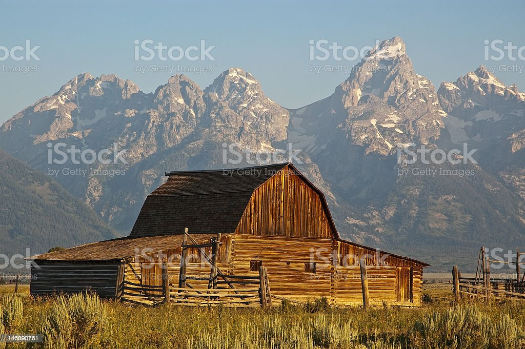 Mormon Row Barn royalty-free stock photo