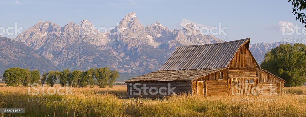Mormon Row Grand Teton stock photo
