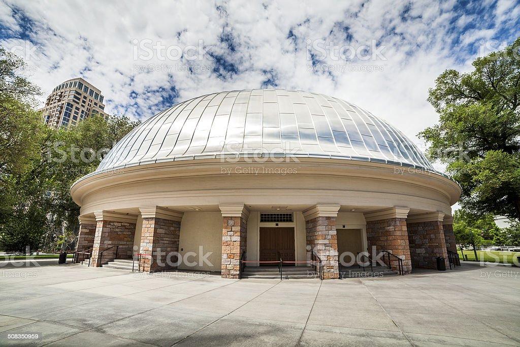 Mormon Tabernacle Choir building stock photo