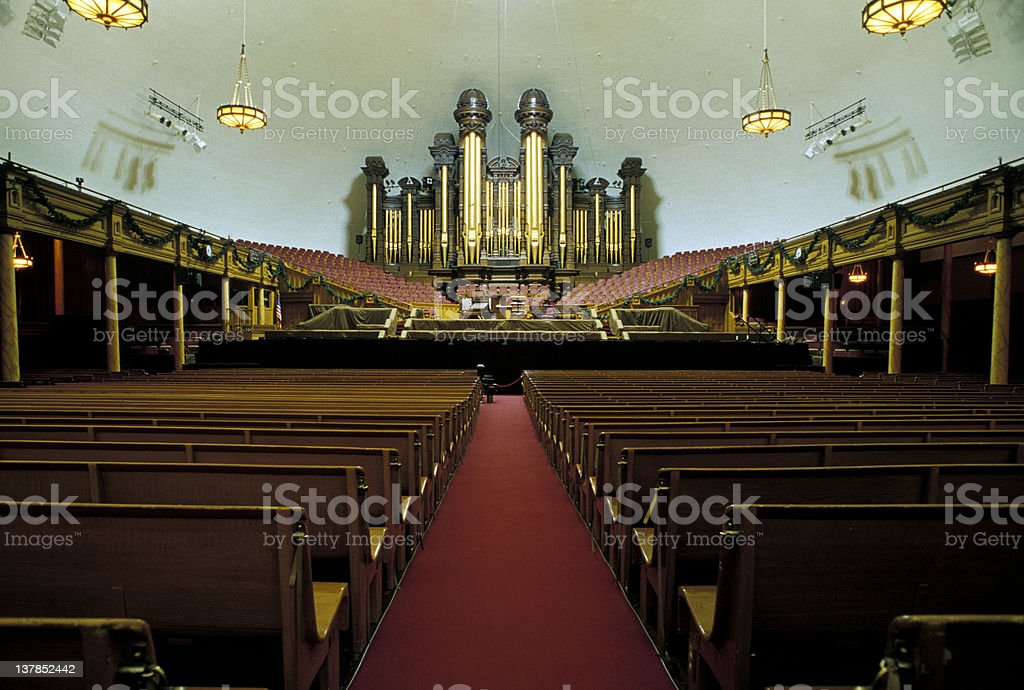 Mormon Tabernacle Organ stock photo