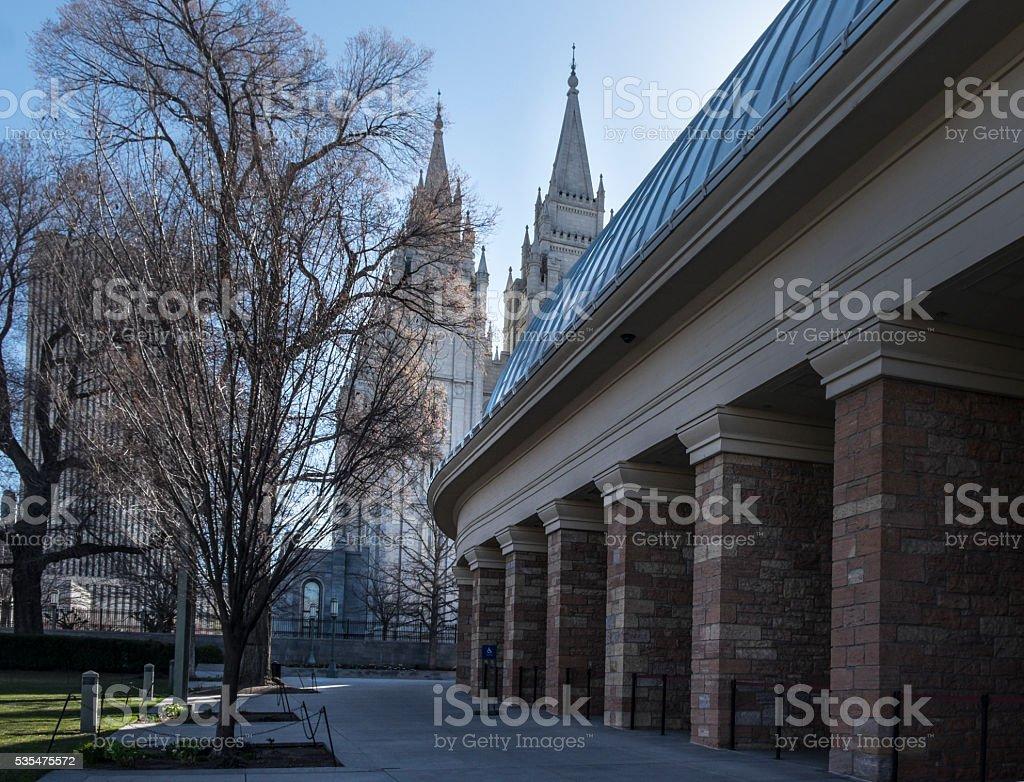 Mormon Temple and Tabernacle, Salt Lake City stock photo