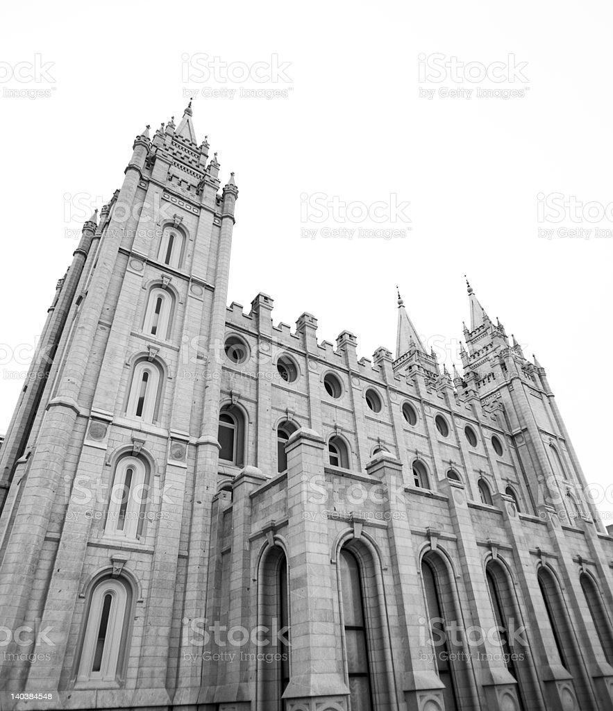 Mormon temple in Salt Lake City royalty-free stock photo