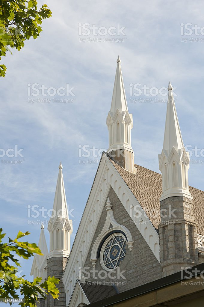 'Mormon Temple in Salt Lake City, Utah' stock photo