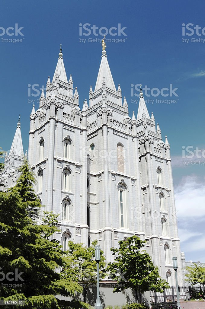 Mormon Temple in SLC stock photo