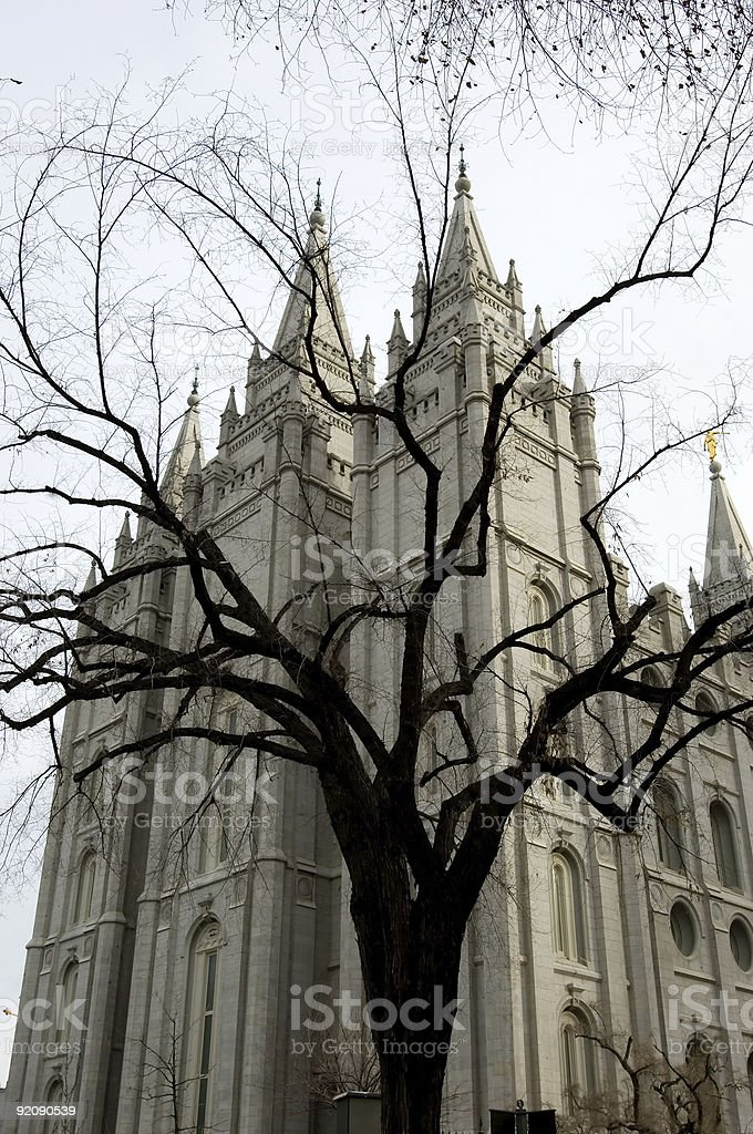 Mormon temple royalty-free stock photo