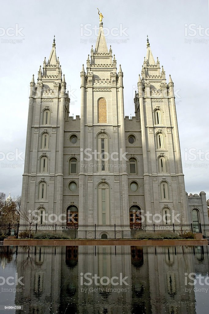 Mormon temple royalty-free stock photo