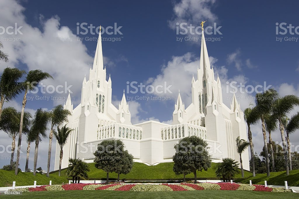 Mormon Temple - San Diego, California stock photo
