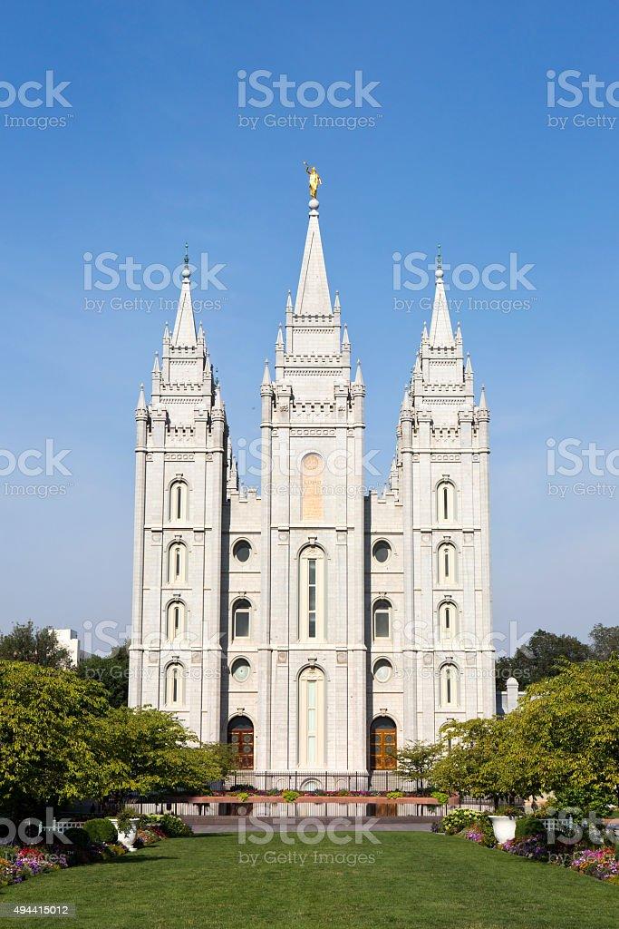 Mormon Temple Tabernacle Utah stock photo