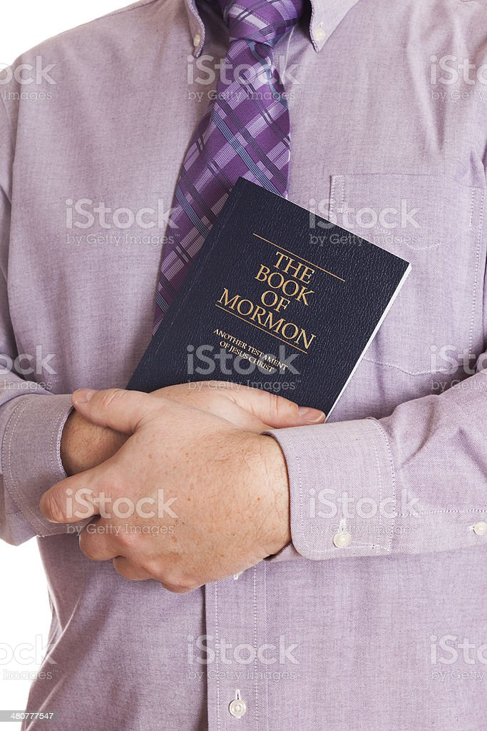 Mormon with bible royalty-free stock photo