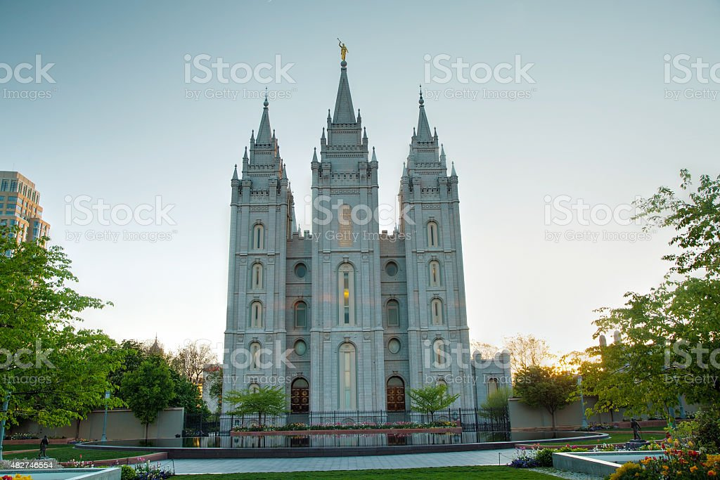 Mormons Temple in Salt Lake City, UT stock photo