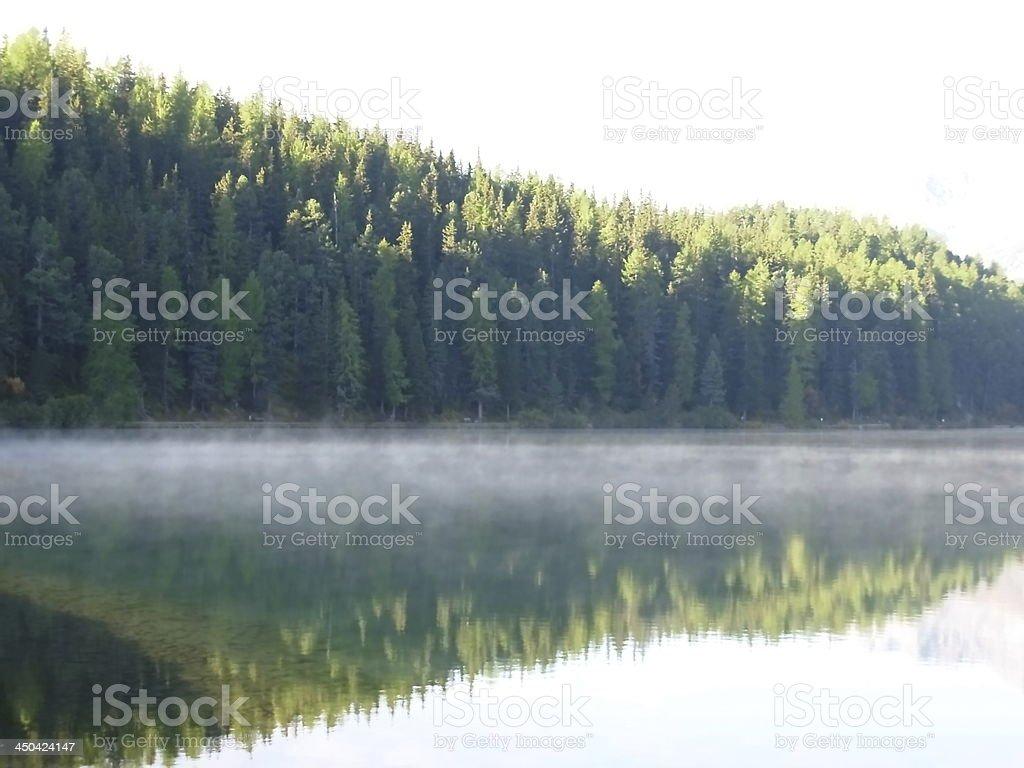 morning at Lake Moritz in Switzerland royalty-free stock photo