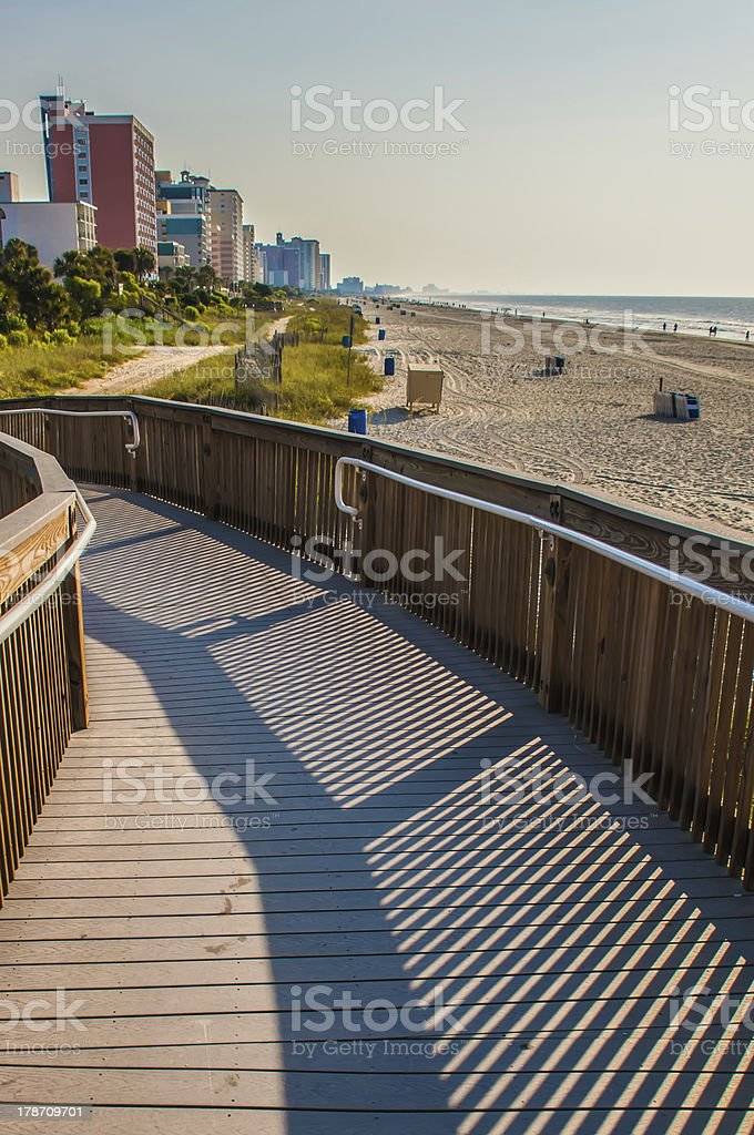 morning at  Myrtle Beach South Carolina stock photo