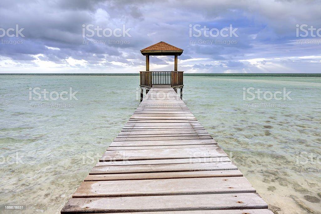 Morning at Pilar beach stock photo